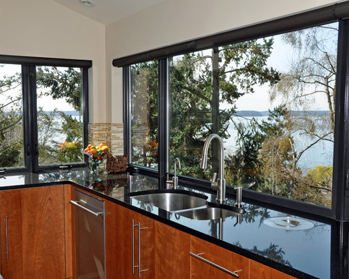 Black windows for homes - Milgard Fiberglass Windows Ideas Pictures Remodel And Decor