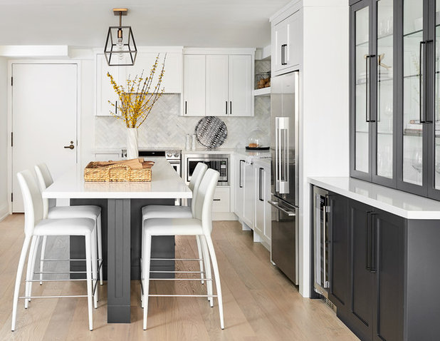 Transitional Kitchen by Watchtower Interiors Inc.