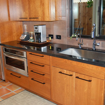 Contemporary kitchen with Asain flair