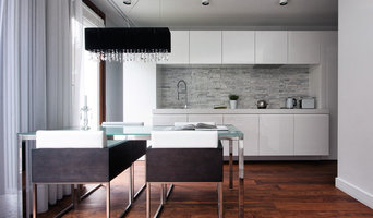 Contemporary Kitchen With Hanging Units