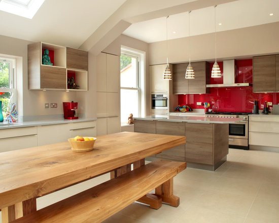 long kitchen table   houzz
