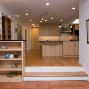 Contemporary Kitchen with Soapstone Counters