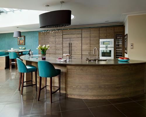 curved kitchen island houzz