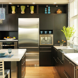 Contemporary Kitchen Designs   Kitchen   Contemporary Kitchen Idea In  Boston With Stainless Steel Appliances,
