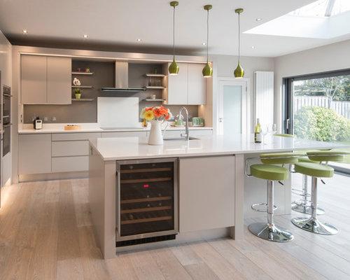L Shaped Open Plan Kitchen Design Ideas Renovations Photos