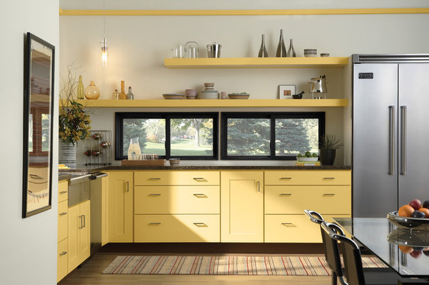 invitez le soleil en cuisine gr ce quelques touches de jaune. Black Bedroom Furniture Sets. Home Design Ideas