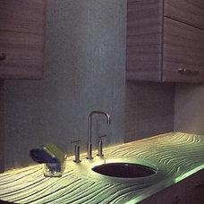 Contemporary Kitchen by Studio L. Glassworks