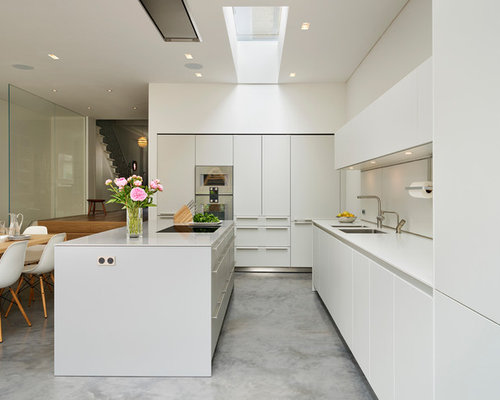 Kitchen with Concrete Flooring Design Ideas, Pictures & Inspiration ...