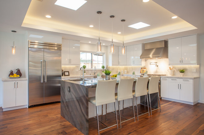 Transitional Kitchen by BODesign