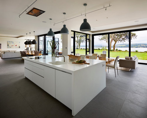 contemporary kitchen idea in devon