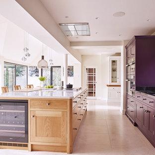 Contemporary painted & oak kitchen