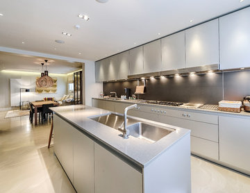 Contemporary remodeling of a lower ground floor