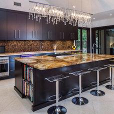 Contemporary Kitchen by Victoria Martoccia Custom Construction, Inc