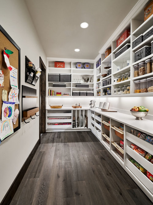 Best 30 kitchen pantry ideas designs houzz for Kitchen plans with island and pantry