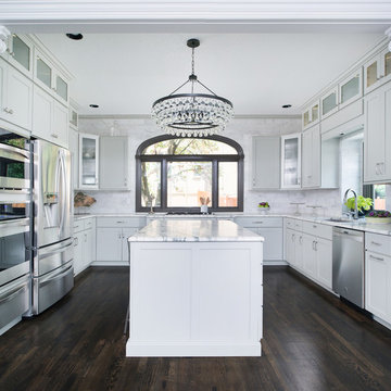 Contemporary Rustic Kitchen & Hearth Room Remodel in Leawood