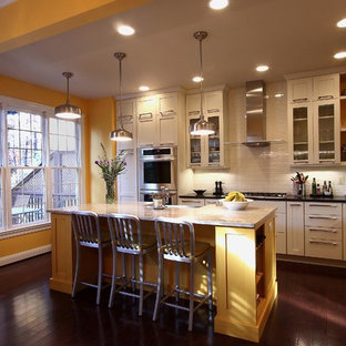 Example of a transitional kitchen design in DC Metro