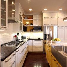 Transitional Kitchen by NVS Remodeling & Design
