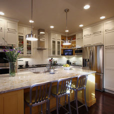 Transitional Kitchen by NVS Remodeling & Design