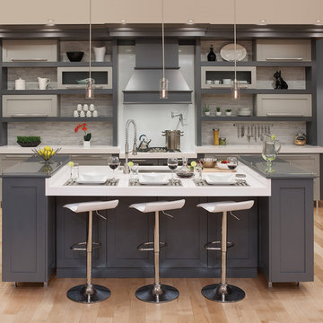 Contemporary Two-Toned Grey Kitchen