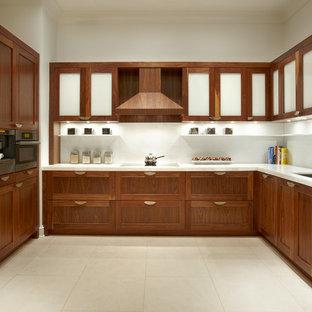 Walnut Cabinet Kitchen Houzz