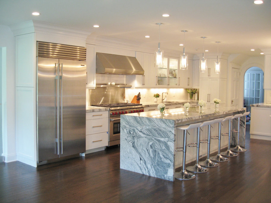 Contemporary White Kitchen in Scarsdale