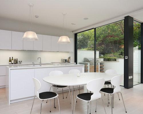 Save. Contemporary White Kitchen