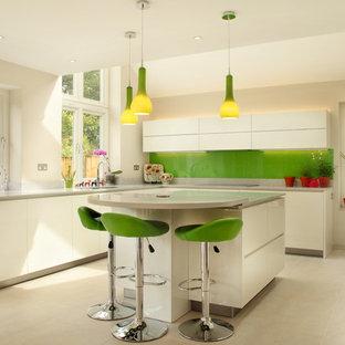 Green And White Kitchen Houzz