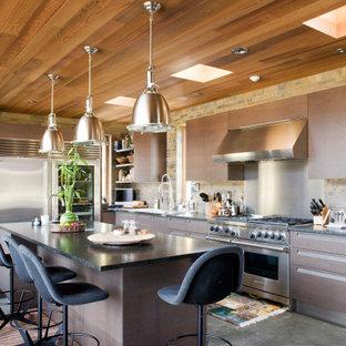 Continental Divide - Colorado Modern Mountain Home Dark Wood Kitchen