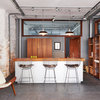 Wood Warms a Kitchen in an Old Converted Warehouse