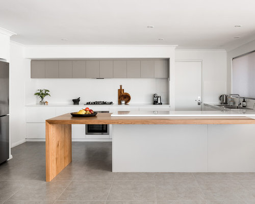 This Is An Example Of A Large Modern Galley Kitchen In Perth With A Drop