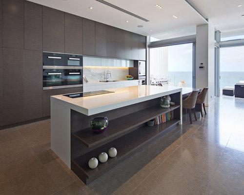 Geräumige Küchen mit Marmorboden Ideen, Design & Bilder | Houzz