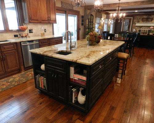 Cleveland Kitchen Design Ideas Renovations Photos With Stone Tiled