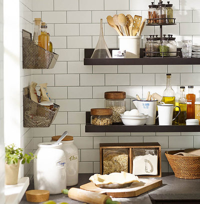 Transitional Kitchen by Pottery Barn