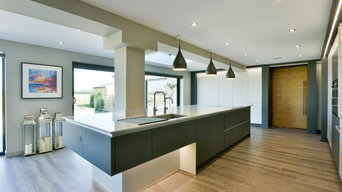 Cool and Contemporary Kitchen.