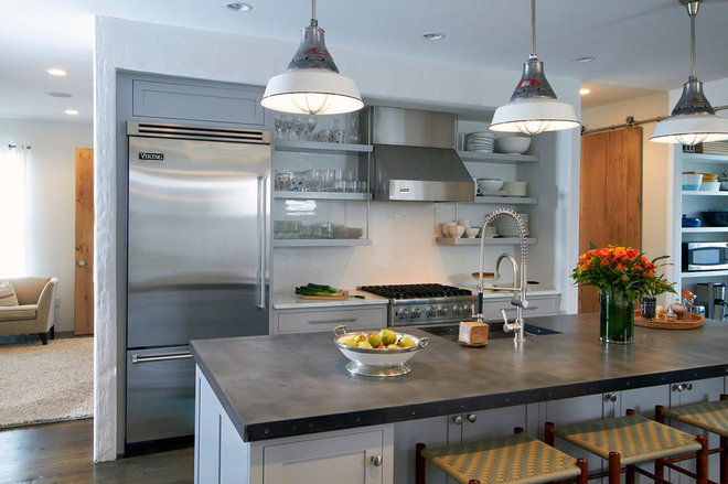 Transitional Kitchen by Plain & Fancy Custom Cabinetry