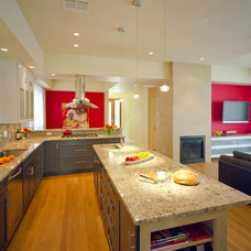 Transitional Kitchen by CG&S Design-Build