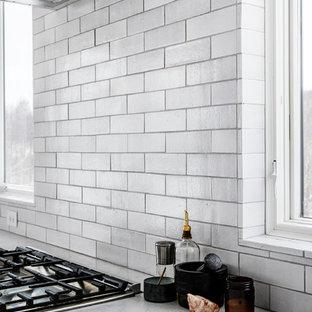 Cool Neutral Brick Kitchen