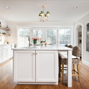Traditional Kitchen Inspiration   Inspiration For A Timeless Galley Medium  Tone Wood Floor And Brown Floor