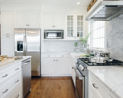Farmhouse Kitchen Design Ideas amazing furniture in small farmhouse kitchen design with white cabinet on best tile floor Farmhouse Kitchen Design Ideas Remodel Pictures Houzz