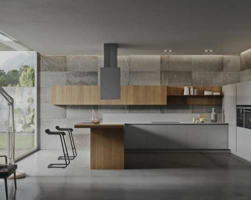 Luxury modern kitchen houzz for Modern italian kitchen