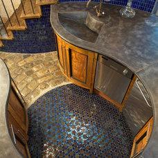 Mediterranean Kitchen by Concrete Surfaces, Inc.
