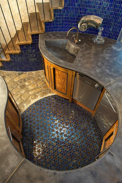 Mediterranean Kitchen by Concrete Surfaces, Inc.