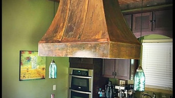 Copper Patina Rangehood - Farmhouse