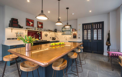A Kitchen's Copper Island Makes a Fabulous Focal Point