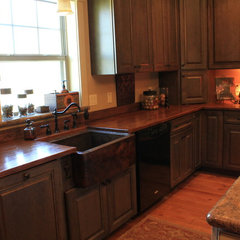 traditional kitchen Copper Sink and Countertops