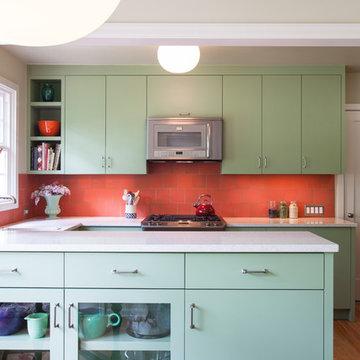 Coral + Jade Kitchen Remodel