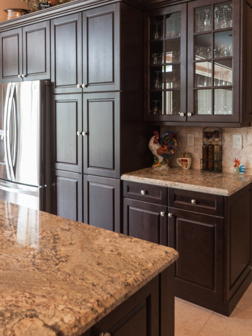Traditional sienna bordeaux granite for Indian kitchen coral springs