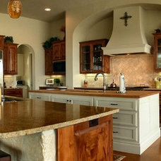 Mediterranean Kitchen by Boyer Custom Homes, Inc.