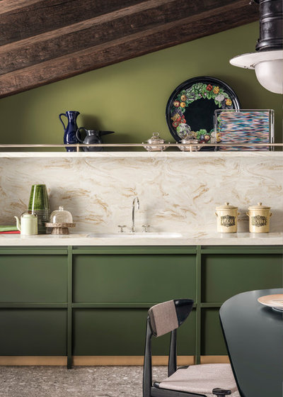Contemporary Kitchen by Corian Design UK
