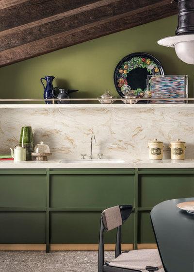 Contemporary Kitchen by Corian Design UK